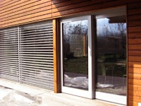 Fenêtre coulissante à levage en bois-métal